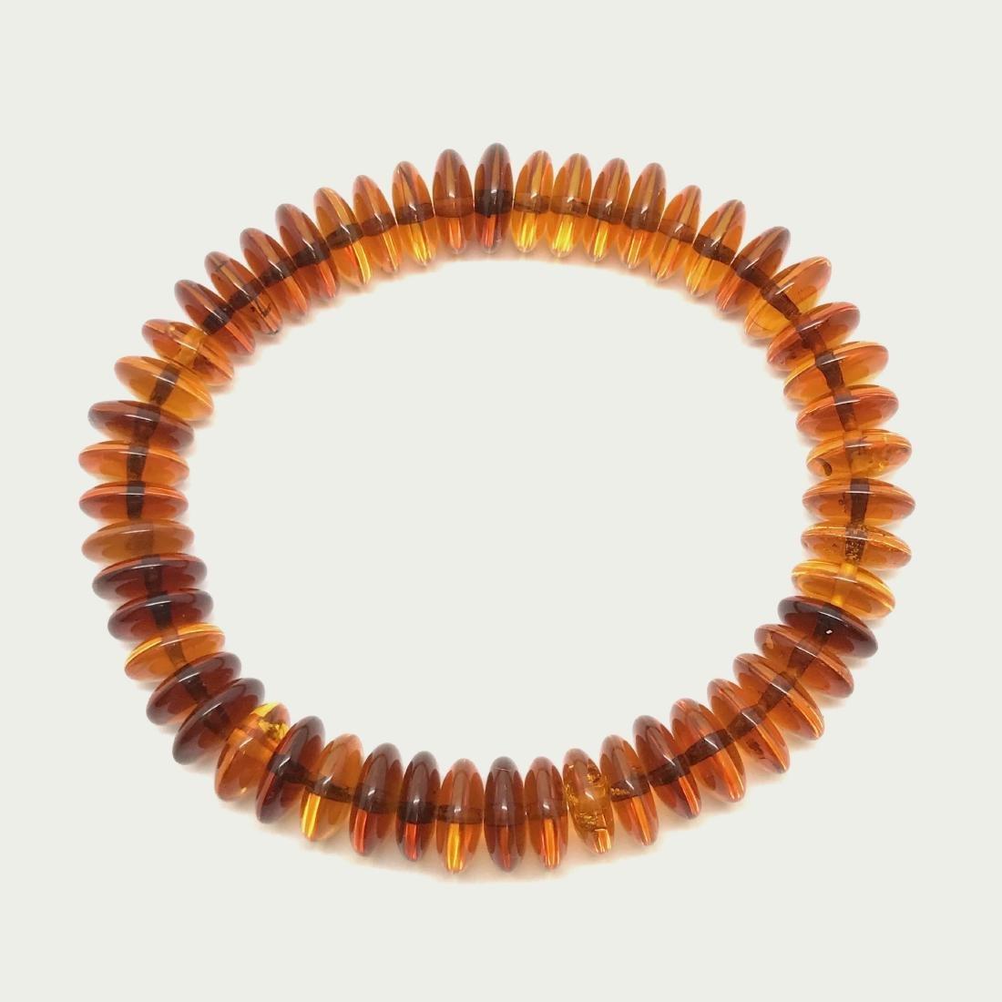 Baltic Amber Bracelet Cognac Colour Donuts - 3