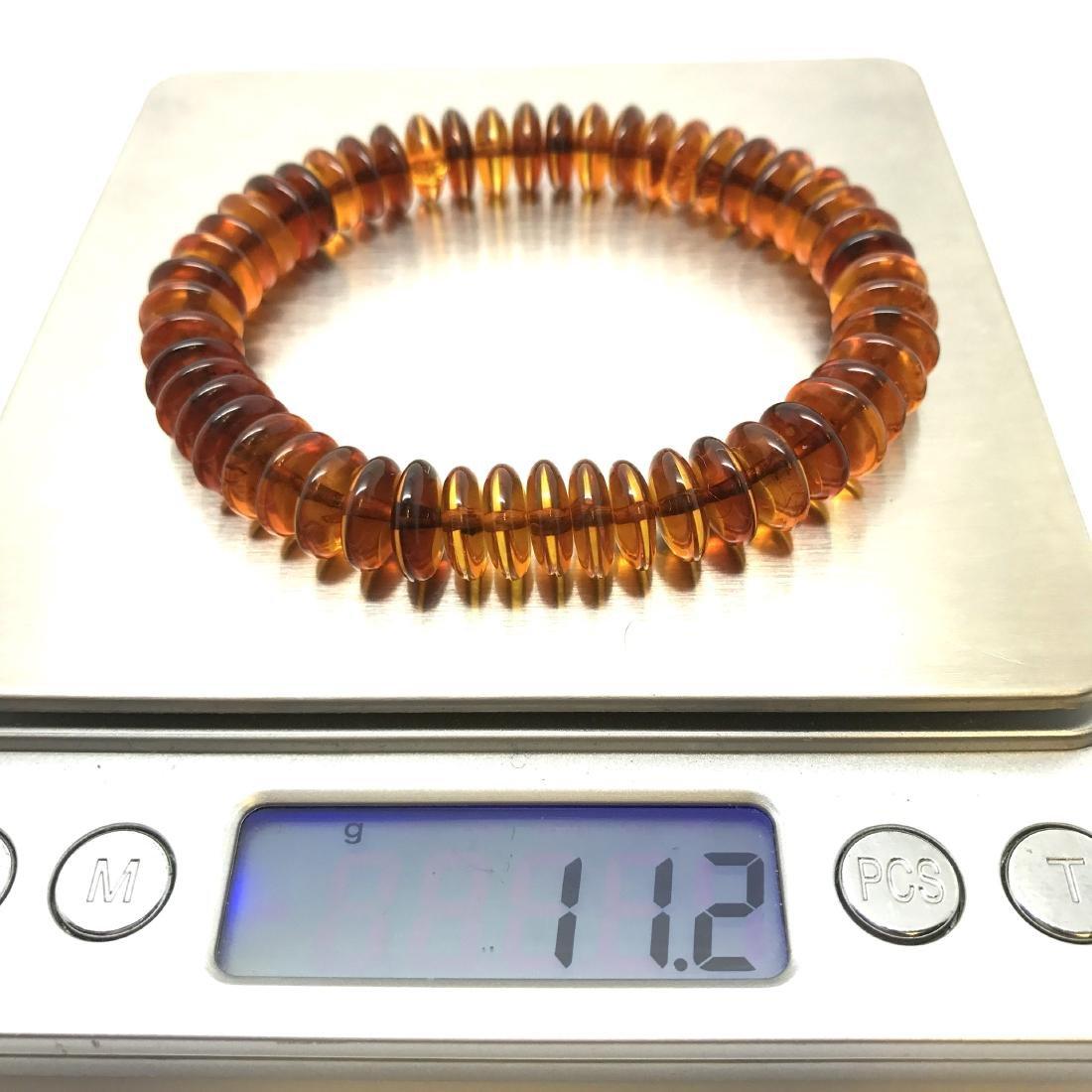 Baltic Amber Bracelet Cognac Colour Donuts - 5
