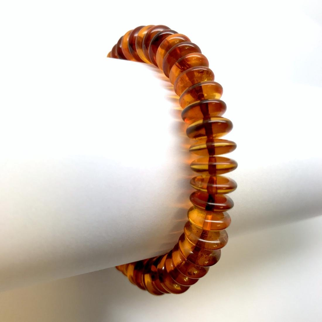 Baltic Amber Bracelet Cognac Colour Donuts - 6