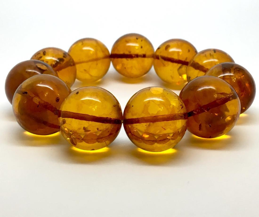 Baltic Amber Bracelet Cognac Colour