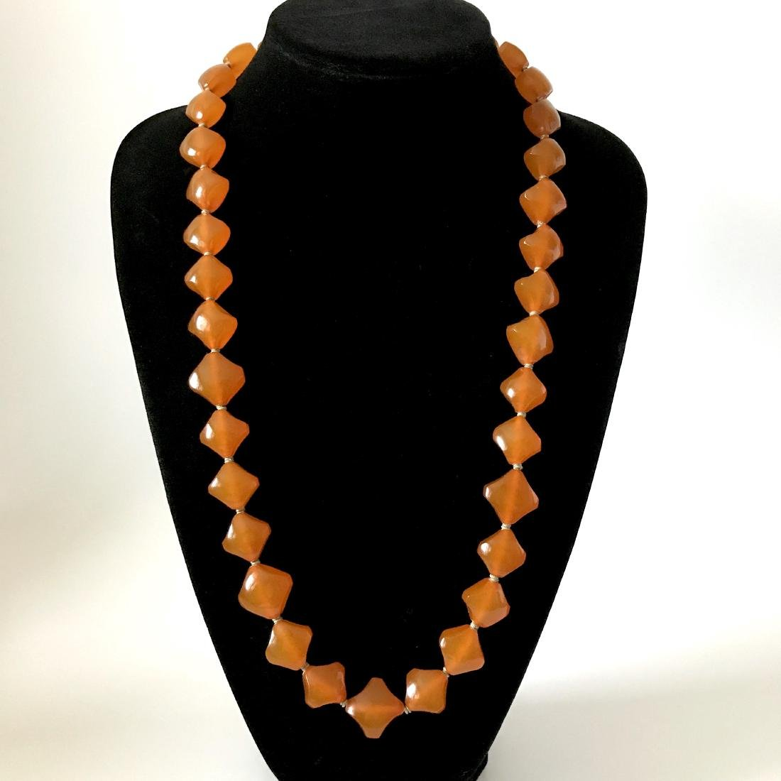 Old Baltic Amber Vintage Necklace Butterscotch Cognac