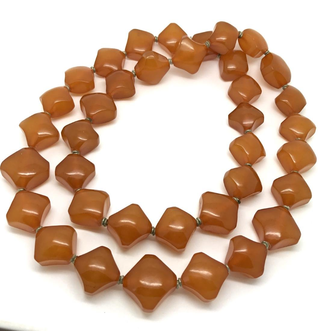 Old Baltic Amber Vintage Necklace Butterscotch Cognac - 2