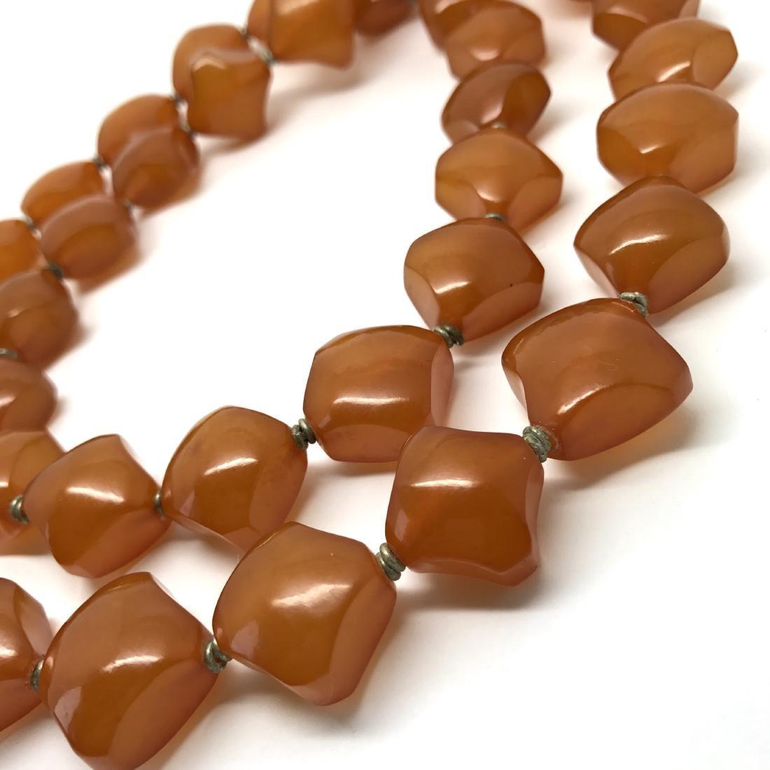 Old Baltic Amber Vintage Necklace Butterscotch Cognac - 3