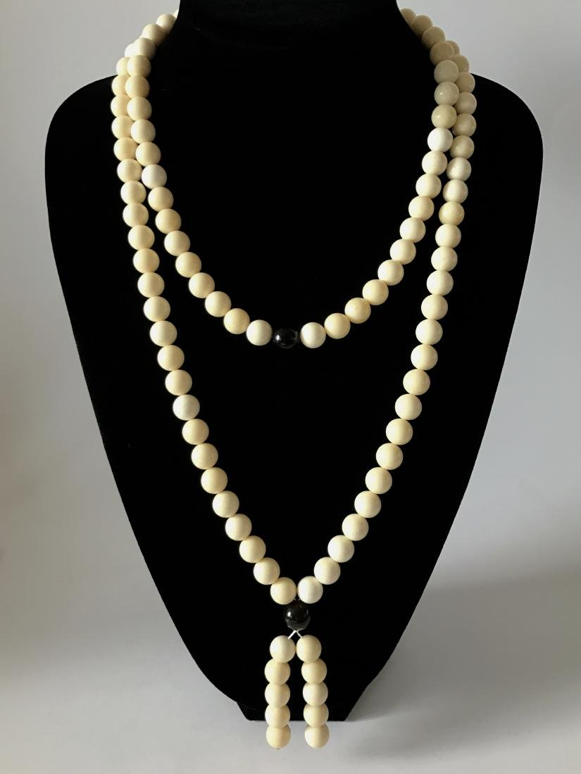Baltic Amber Lucky Mala White Colour With Cherry