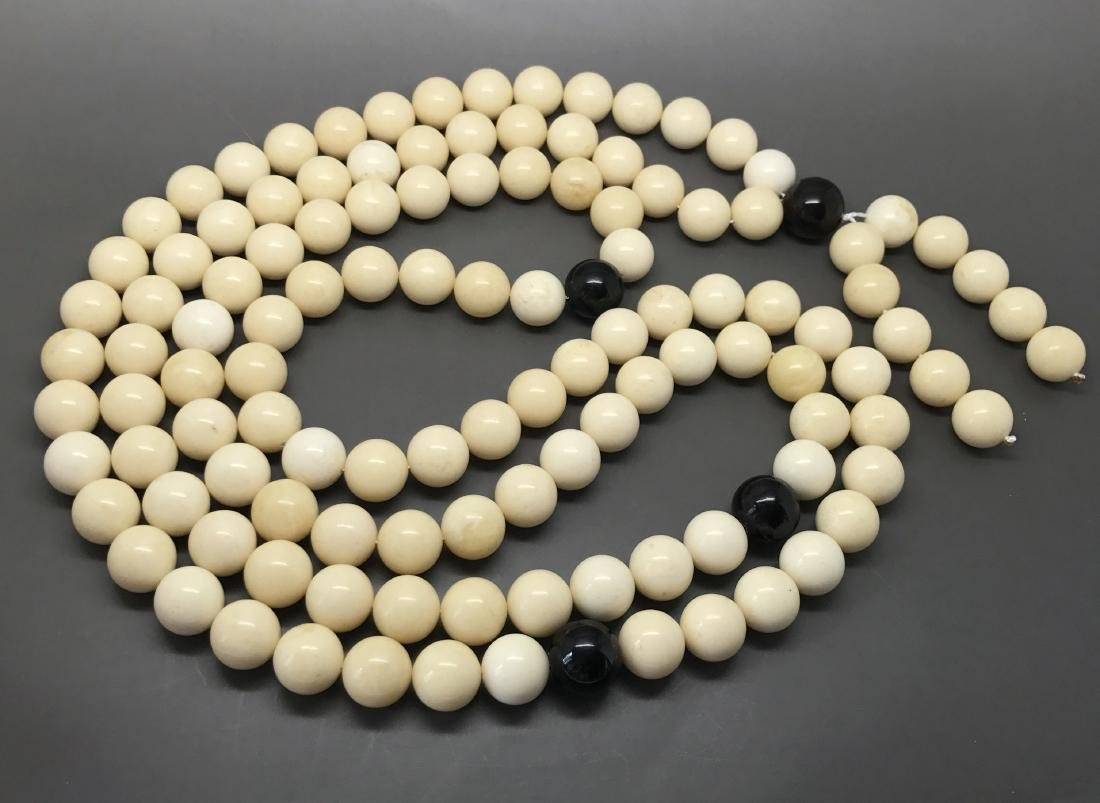 Baltic Amber Lucky Mala White Colour With Cherry - 3