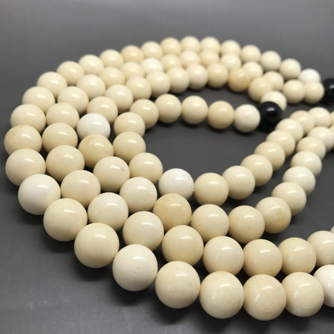 Baltic Amber Lucky Mala White Colour With Cherry - 4