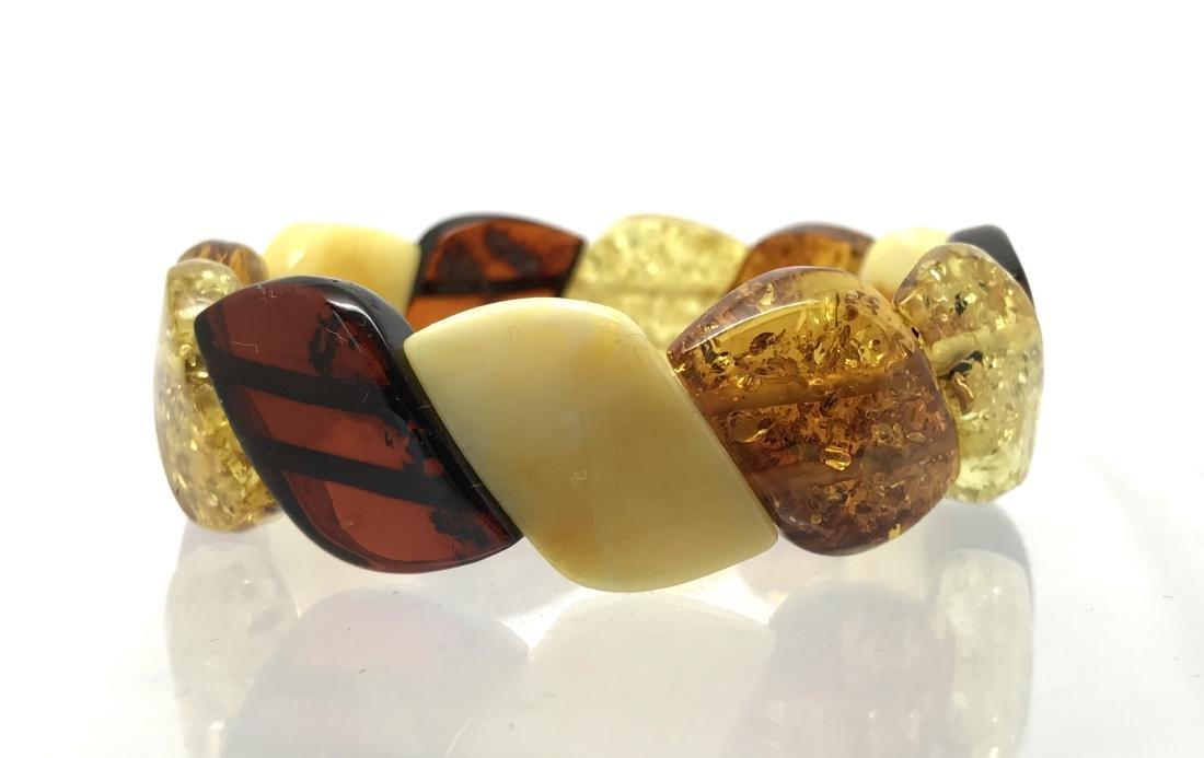 Baltic Amber Bracelet Multicolour (White/Yellow, Lemon,