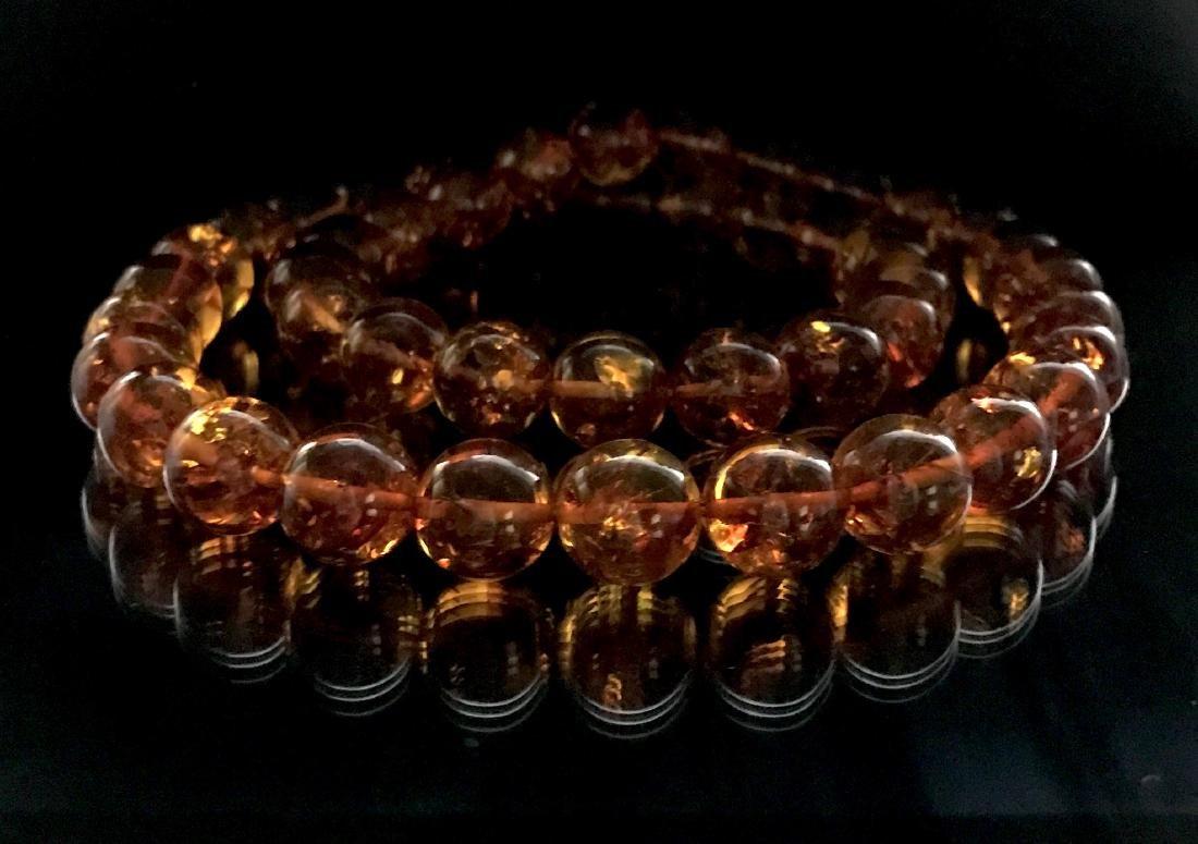 Baltic Amber Necklace Cognac Colour