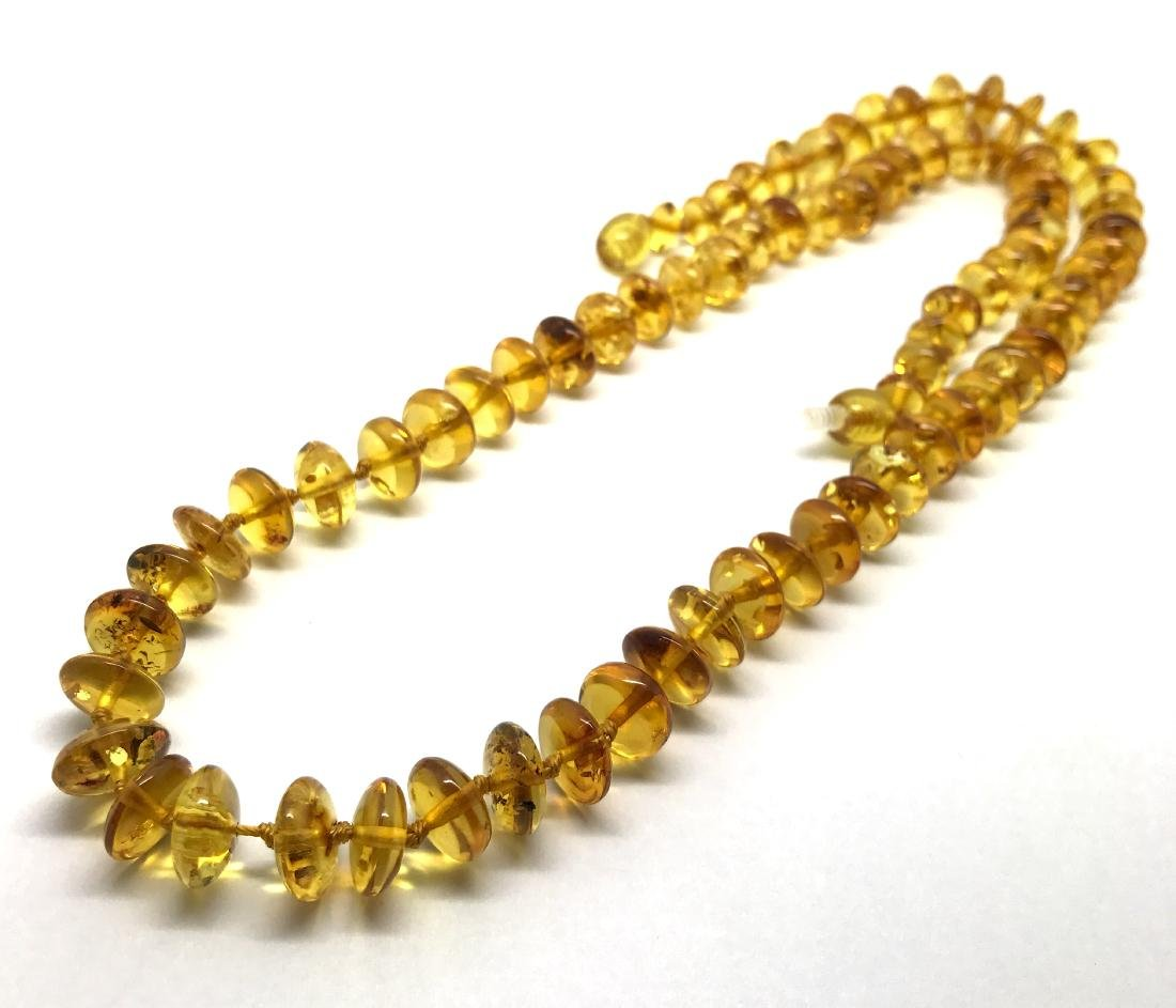 Baltic Amber Necklace Lemon Honey Colour