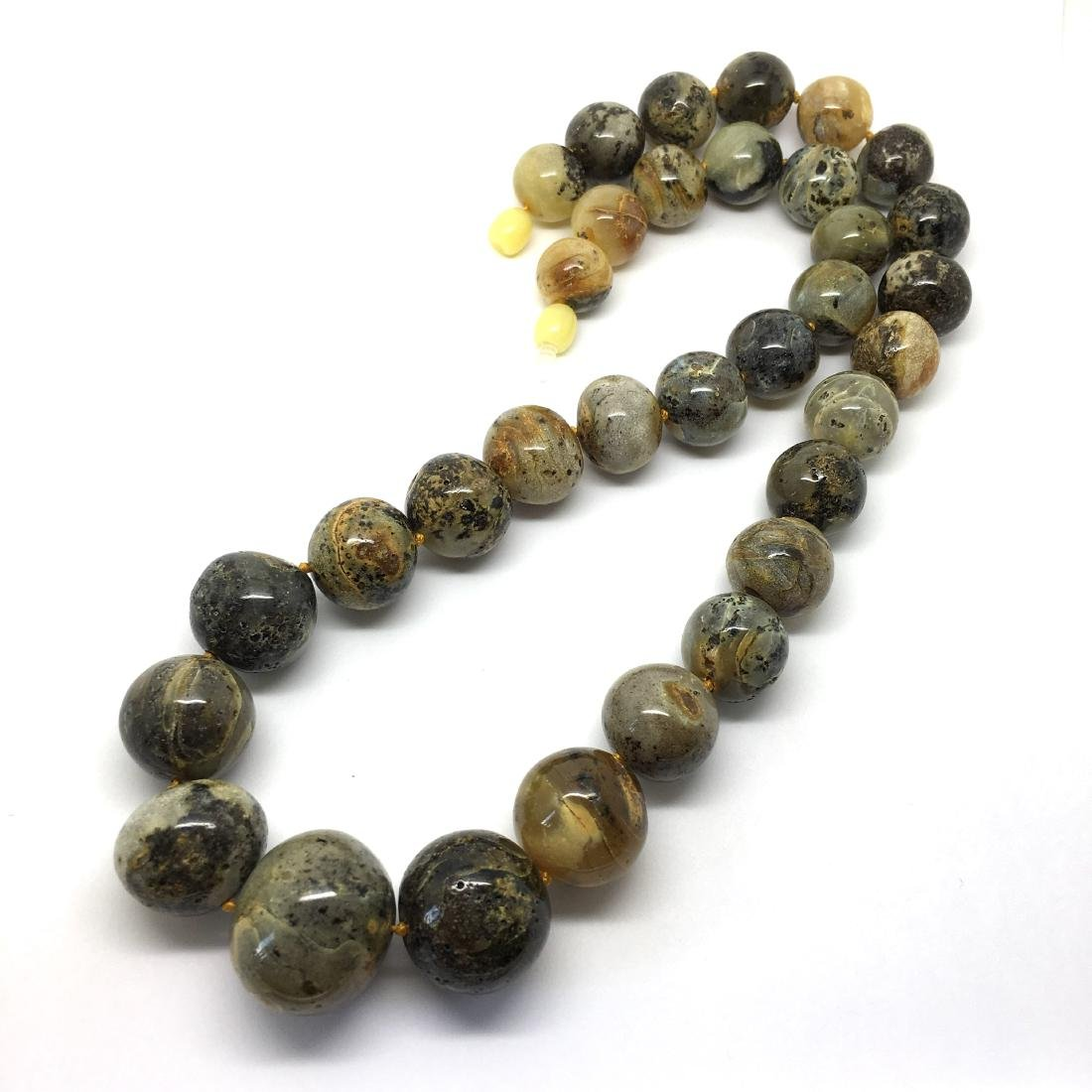 Baltic Amber Necklace Dark-to-Light Marble Colour