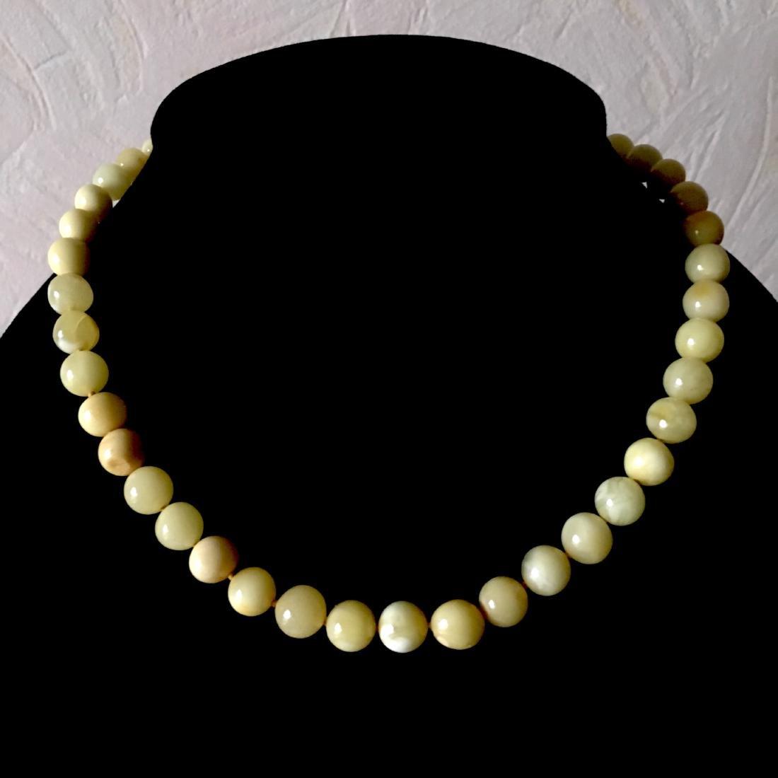 Baltic Amber Necklace White/Yellow Colour Unique