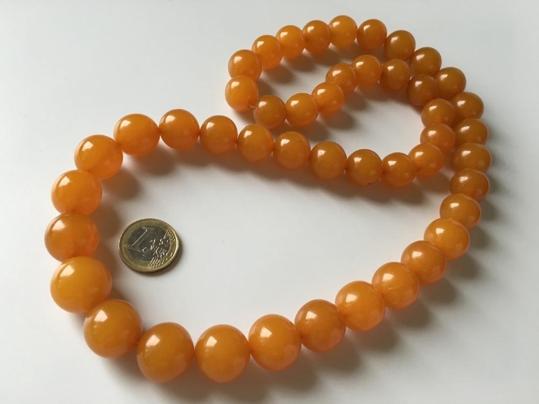 Old Baltic Amber Vintage Necklace  Egg Yolk Colour