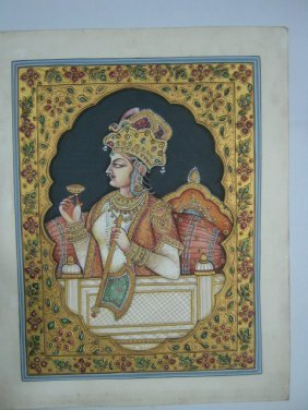 PAINTING OF QUEEN , EMBOSSED WORK . INDIA