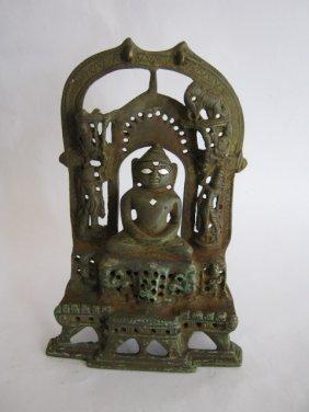 BRONZE BUDDHA / JAIN STATUE , SILVER DÉCOR