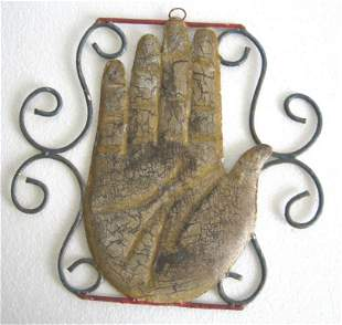 Iron palmist trade sign / store display sign . Wall
