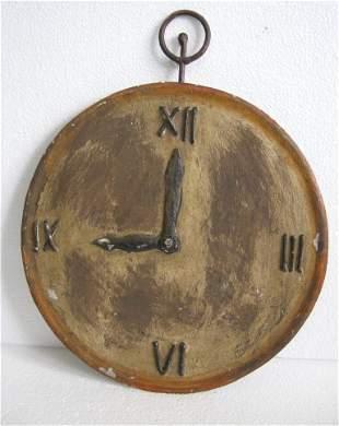 Iron clock trade sign , store display sign wall hanging