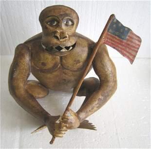 Iron Gorilla with American flag