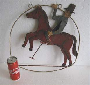 Iron horse polo trade sign , advertisement display sign