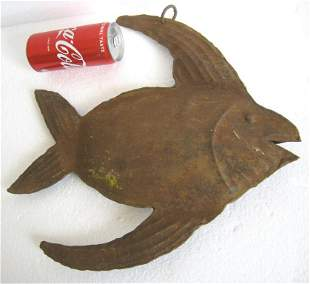 Iron fish trade sign , store display advertisement sign