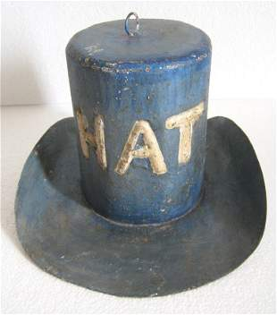 Iron hat trade sign , store display advertisement sign