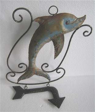 Iron fish trade sign / store display advertisement sign