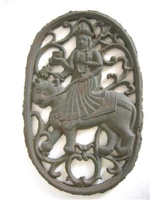 Cast iron Panel with figures