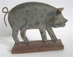 Iron pig trade sign / store display advertisement sign