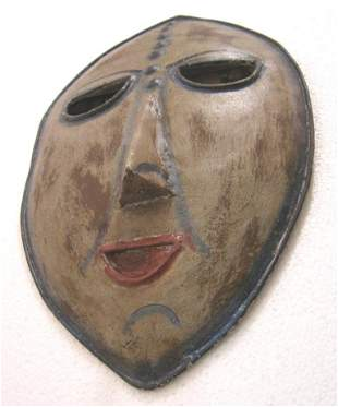 Iron face mask wall decoration detailed