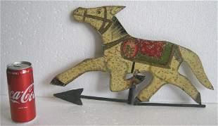 Horse weather vane , fine painting decoration