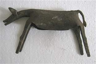 Iron tribal art horse
