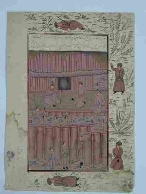 INDIAN MINIATURE PAINTING HAND MADE PAPER