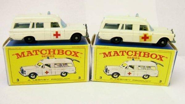 3: 3C Mercedes Ambulance x 2