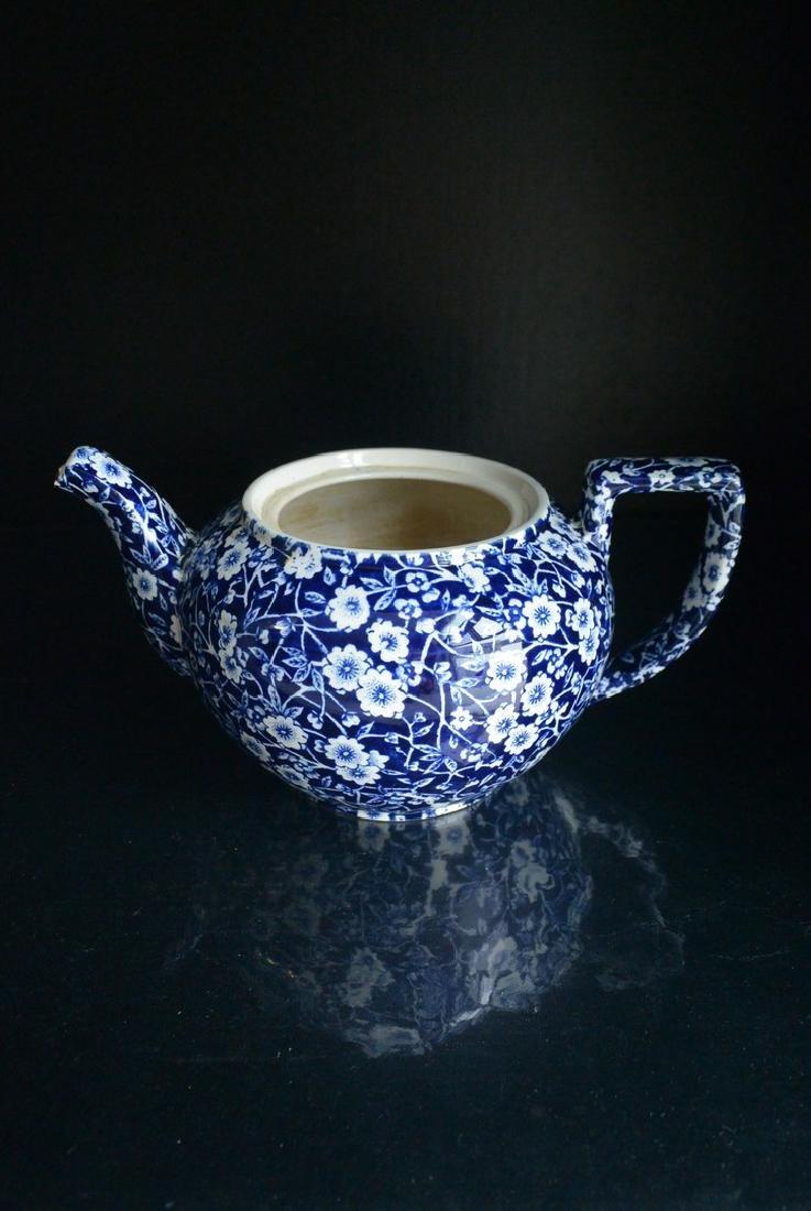 Qing Dynasty England blue and white Clarke plum tea pot - 2