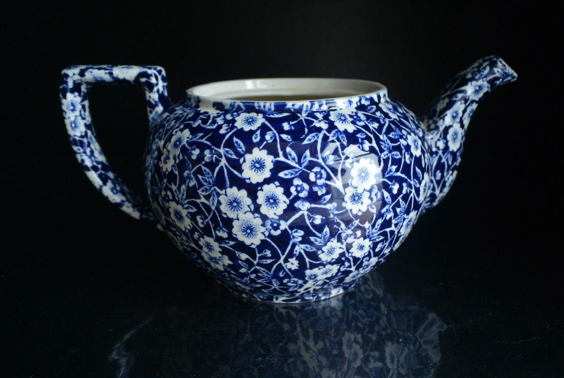 Qing Dynasty England blue and white Clarke plum tea pot - 3