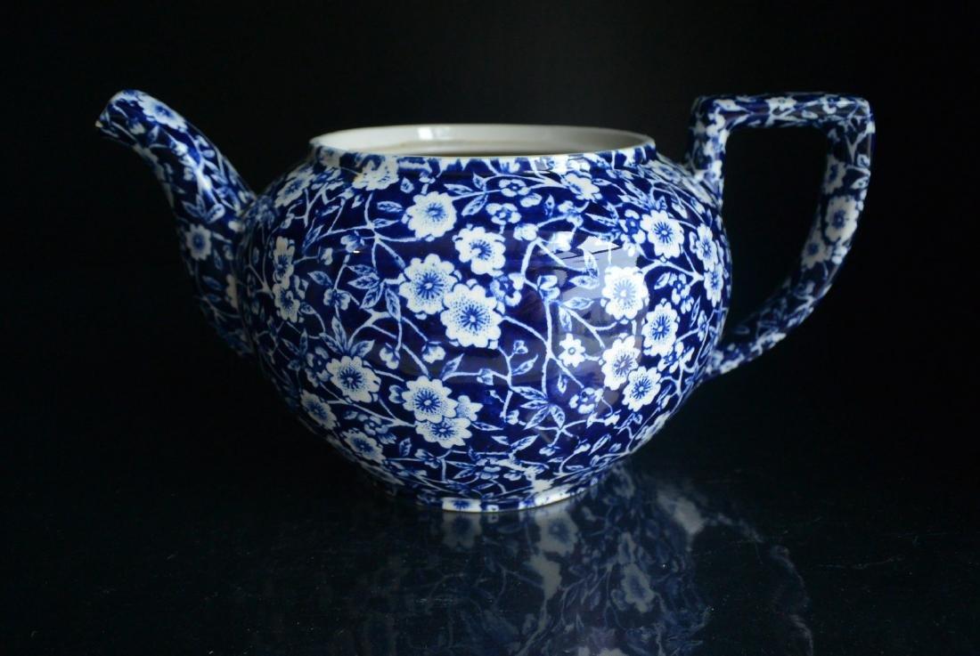 Qing Dynasty England blue and white Clarke plum tea pot - 4