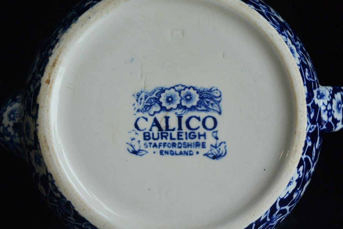 Qing Dynasty England blue and white Clarke plum tea pot - 9