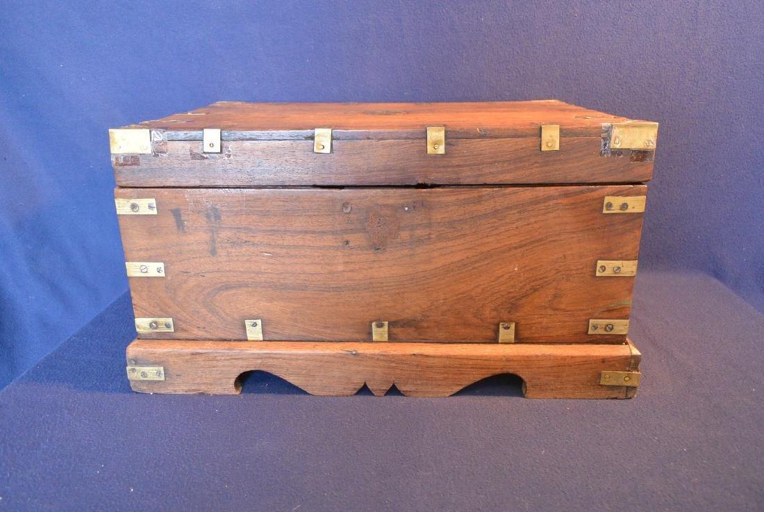 Qing Dynasty mahogany box