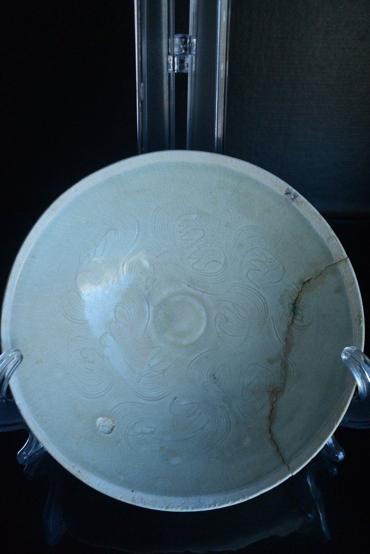 Song Dynasty Ding kiln carved pattern decorated bowl