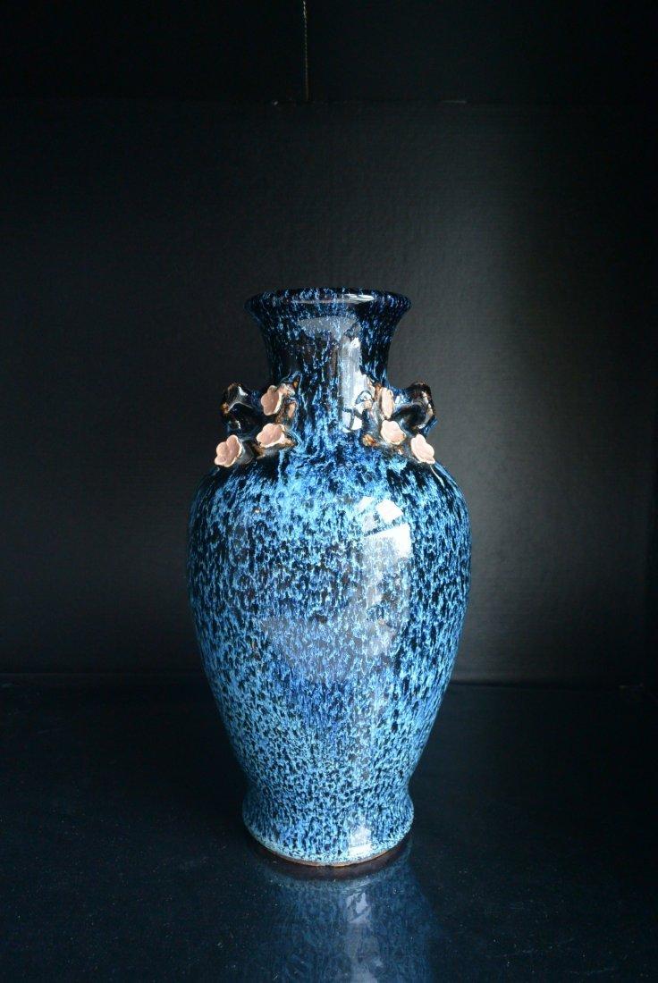 A Beautiful LU-JUN Glazed Vase H:32cm