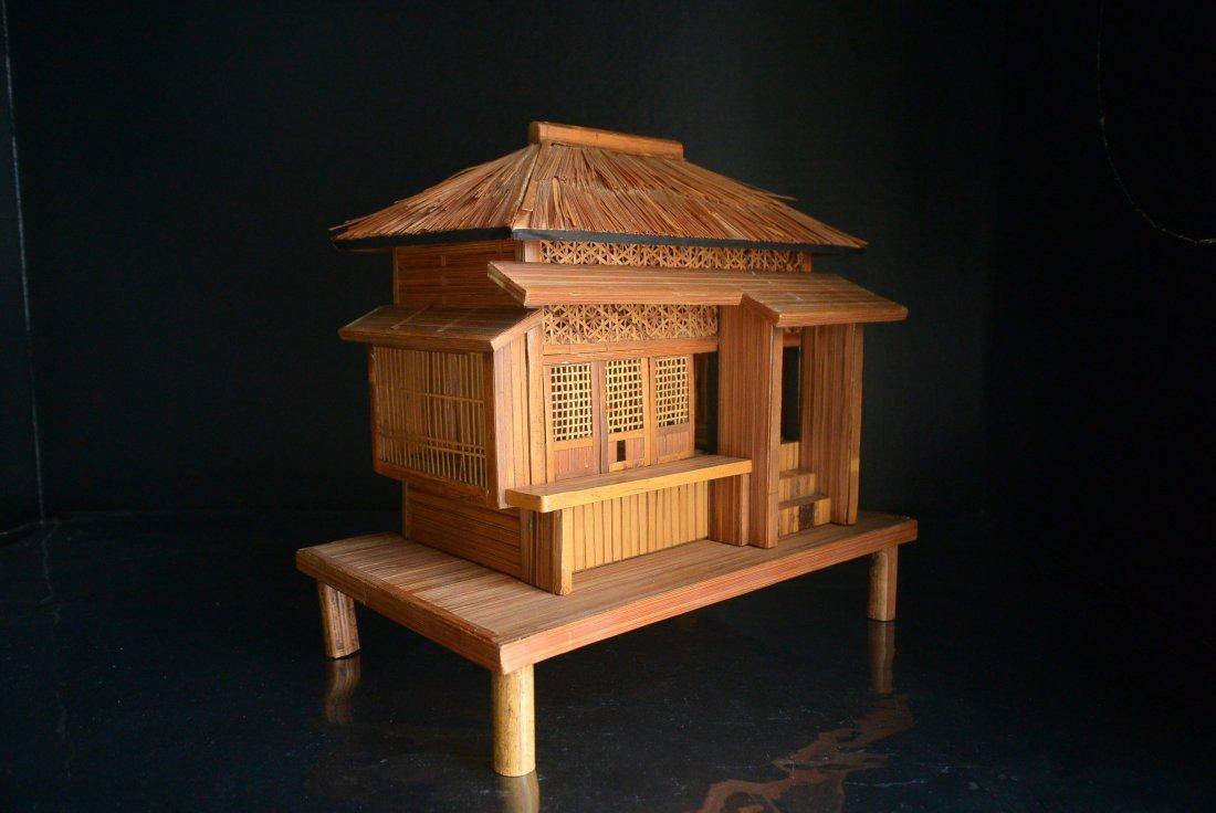 A rare Antique bamboo huts