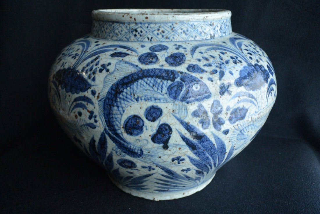 Finely Chinese Blue/White Porcelain Jar Yuan Dynasty