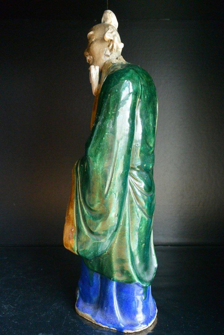 A Qing Dynasty ShiWanYao Porcelain Statue - 10