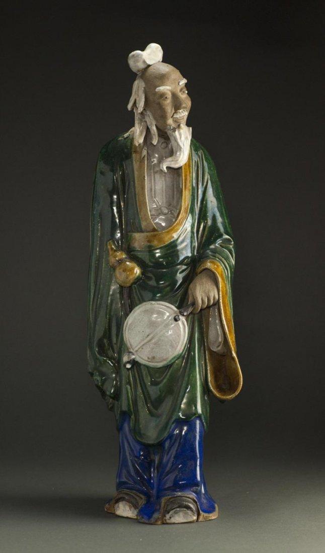 A Qing Dynasty ShiWanYao Porcelain Statue