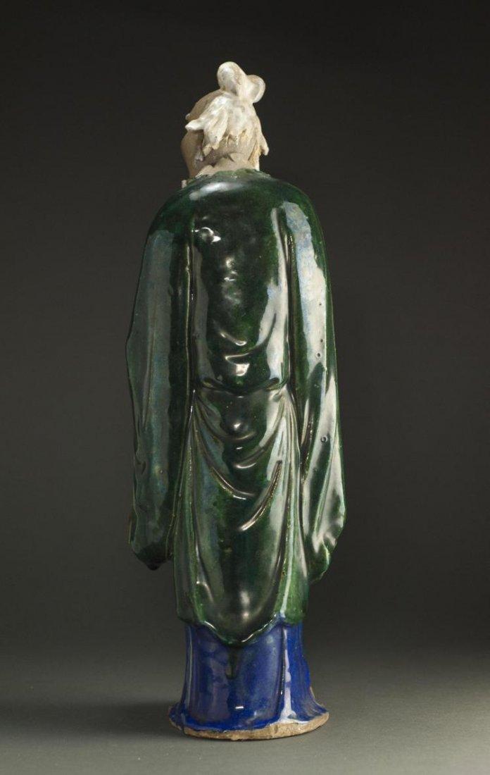 A Qing Dynasty ShiWanYao Porcelain Statue - 2