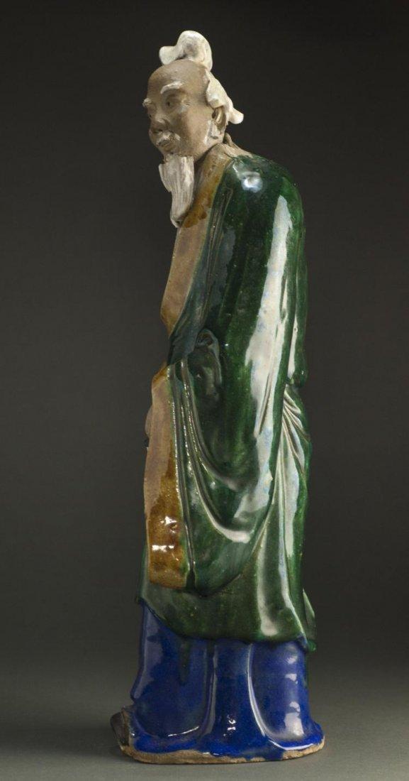 A Qing Dynasty ShiWanYao Porcelain Statue - 3