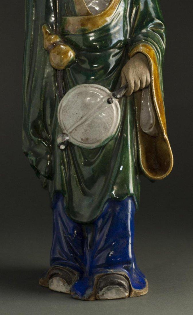 A Qing Dynasty ShiWanYao Porcelain Statue - 5