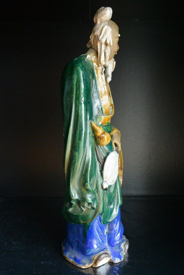 A Qing Dynasty ShiWanYao Porcelain Statue - 8