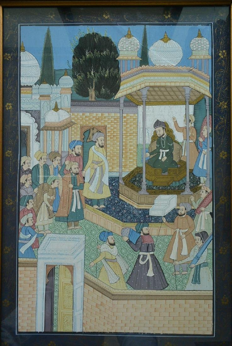 Ancient Persian national culture style painting