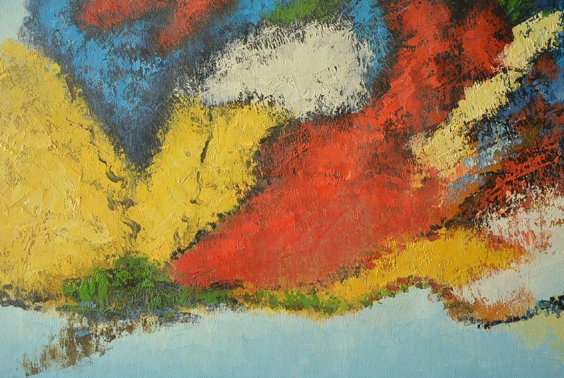 Oil painter W. Hurris abstractionist school Oil painti - 10