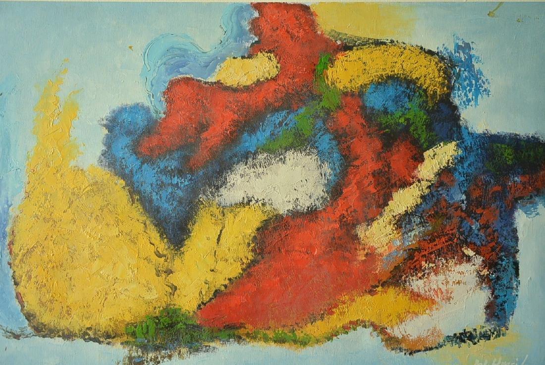 Oil painter W. Hurris abstractionist school Oil painti - 2